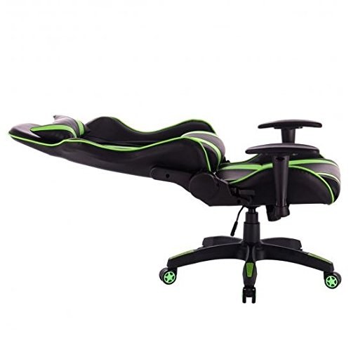 41j8OxqpBvL - MD-Group-Gaming-Chair-High-Back-Reclining-Racing-Style-Green-PVC-Scratch-resistant-360-Swivel