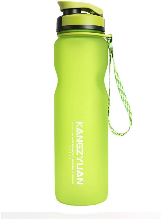 Botella Deportiva, Vaso De Plástico Reutilizable Portátil Con Boquilla De Succión Para Deportes Al Aire Libre Y Ejercicios Físicos,Verde