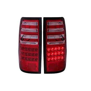 Image of Anzo USA 311095 Toyota Land Cruiser Red/Clear LED Tail Light Assembly - (Sold in Pairs) Tail Light Assemblies