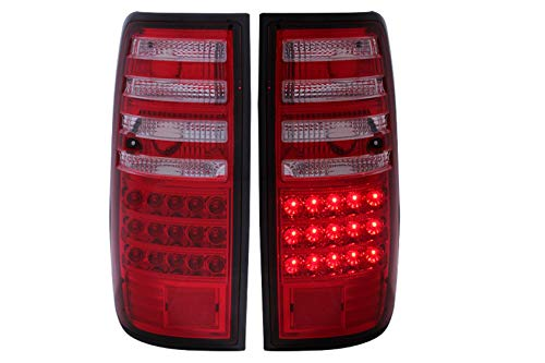 Anzo USA 311095 Toyota Land Cruiser Red/Clear LED Tail Light Assembly - (Sold in Pairs)