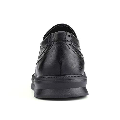 Carving Style Bbusiness Moda 43 Negro Hombre On For Cómodo Shoes Brogue Slip Tamaño Negro color zapatos Men Eu Oxford Casual xxXqfR