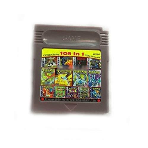 108 in 1 Game Boy COLOR GBC Multi Cart Pokemon / kof 95 / Mega Man / Snow Bros.