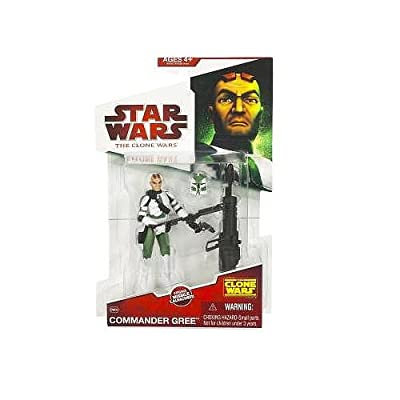 Star Wars 2009 Clone Wars Animated Action Figure Commander Gree