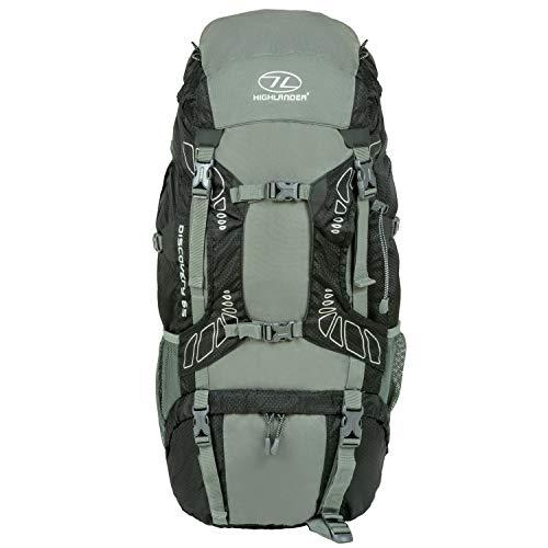 Highlander 65 Liter Discovery Rucksack Leichter Wanderrucksack mit wasserdichter Hülle – Ideal zum Wandern, Reisen…