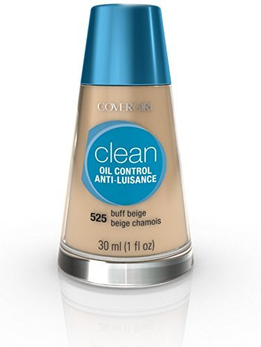 CoverGirl Clean Oil Control Liquid Makeup, Buff Beige [525], 1 oz (Pack of 2)