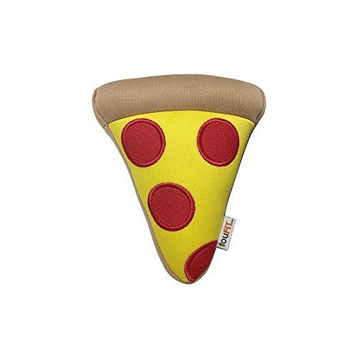 FOUFIT Plush Munchies Freeze 'n' Float Dog Toy, 5.5'''', Pizza by FOUFIT
