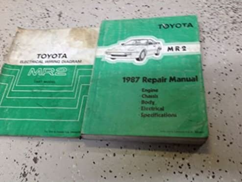 1987 toyota mr2 service repair shop manual set w electrical wiring 1986 Volvo 240 Wiring Diagrams