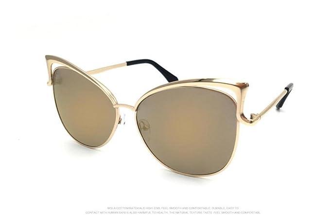 WANGMIN® Occhiali Da Sole Moda Classic Designer Di Marca Occhiali Da Sole Occhiali Da Vista In Metallo A Doppia Fasciera Vintage , D