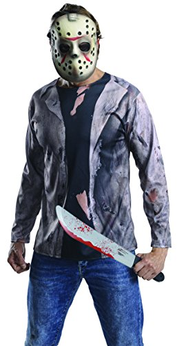 Friday 13 Halloween Costumes (Rubie's Men's Friday 13th Jason Costume Accessory Kit, Multicolor,)