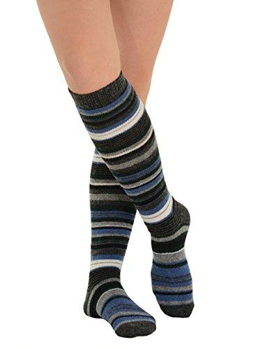 6469d3fa3 Womens Stripe Knee Socks Cashmere Blend 7 Color Options - Import ...