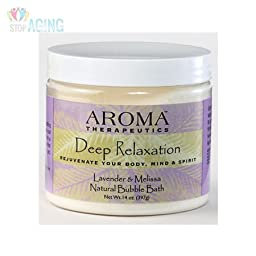 Aroma Therapeutics Deep Relaxation Natural Bubble Bath - Lavender & Melissa 14 oz