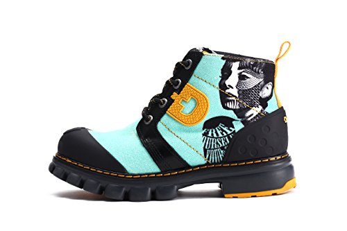 Dr.act Womens Singer Travel Canvas Boots Verde Menta