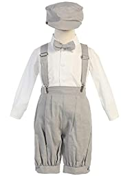 Vintage Baby Toddler Boys Knickers Suit Light Gray 24M/2T