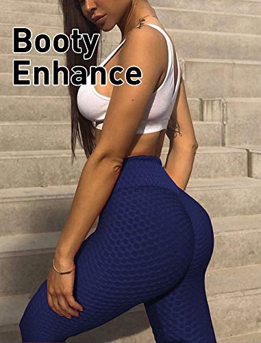 GYMSPT High Waisted Yoga Pants for Women, Tummy Control Ruched Butt Lifting Workout Scrunch Leggings Booty Tights