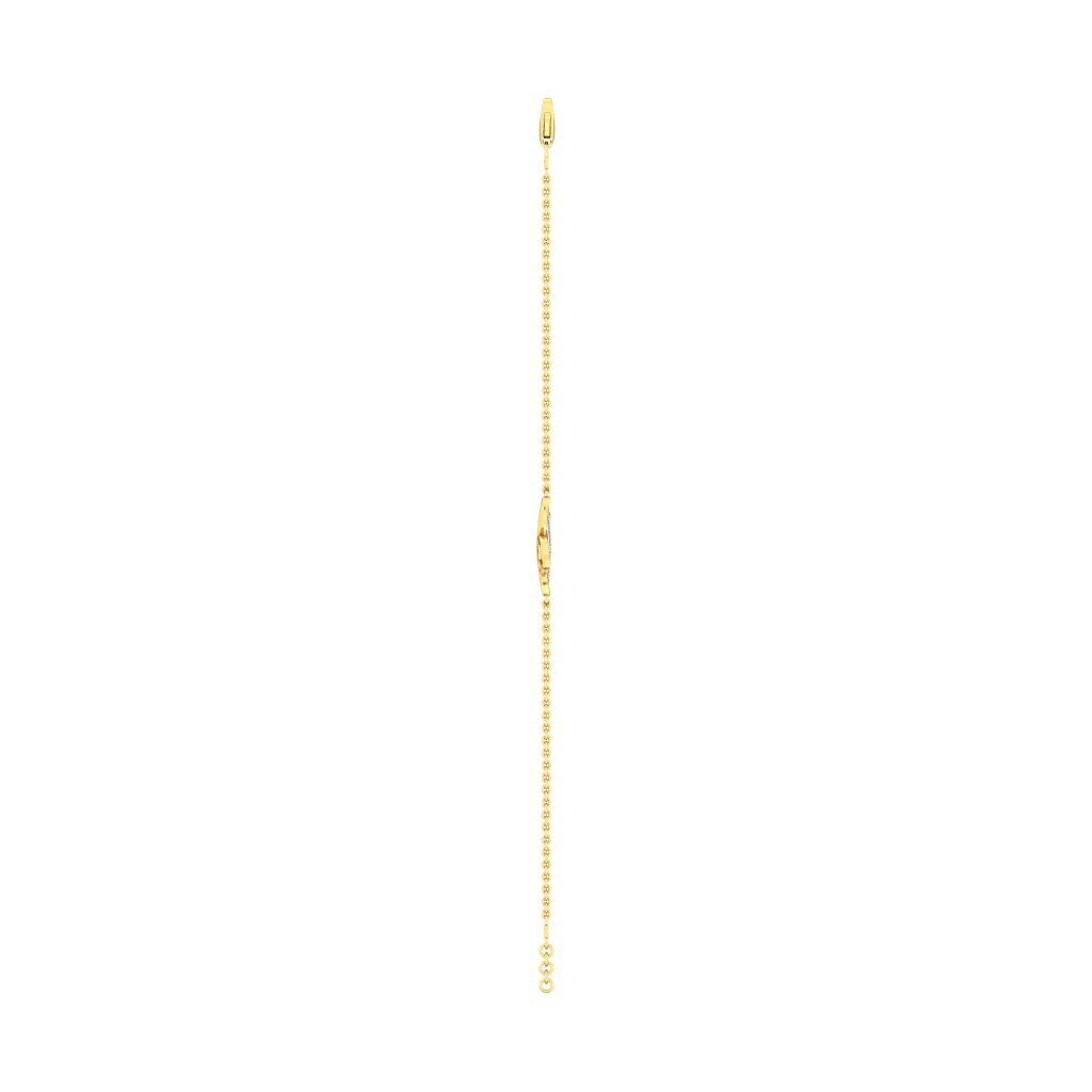 10 inches IJ| SI 18K Yellow Gold identification-bracelets Size 0.175 cttw Round-Cut-Diamond