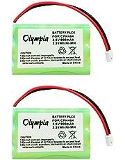 2 Pack of Motorola MBP36PU Battery - Replacement Battery for Motorola Baby Monitor (900mAh, 3.6V, NI-MH)