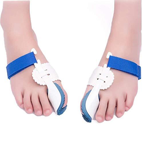Bunion Corrector, 2pcs Adjustable Velcro Bunion Splint Protector Sleeves kit, Toe Straightener for Hallux Valgus ,Tailors Bunion, Hammer Toe Pain Relief