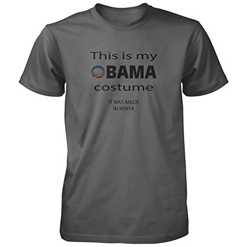 Vine Fresh Tees - This Is My Obama Costume T-shirt - Adult X-Small, Charcoal