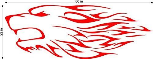 ウルフ速度トライバル動物炎モータークロスストリートトラックオートバイレーシングトレーラーデカールステッカー壁画1色2グラフィックスaf20