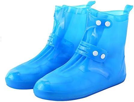 サイクリングシューズカバー 乗馬ハイキングノンスリップ靴カバー防水防風靴カバー耐摩耗靴カバー シューズカバー (Color : Blue, Size : M)