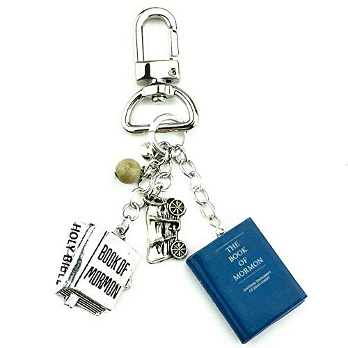 Book of Mormon Another Testament of Jesus Christ Clay Mini Book Key Chain Bag Purse Backpack Clip