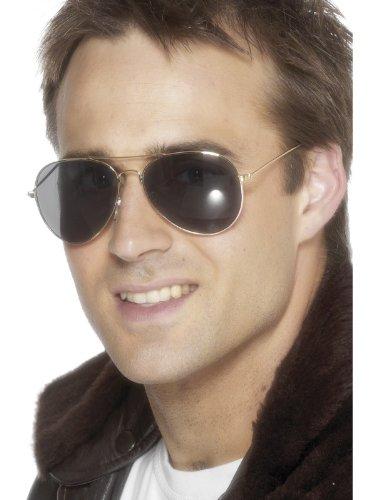 Smiffy's Men's Aviator Specs,Dark Black, One - Aviator Specs