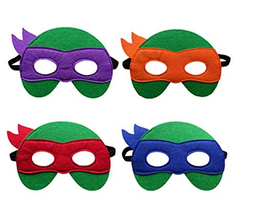 Ninja Turtle Masks Boys Girls - 12 Felt Toy Masks,Cosplay Birthday Party Ninja Turtles Supplies Favors]()