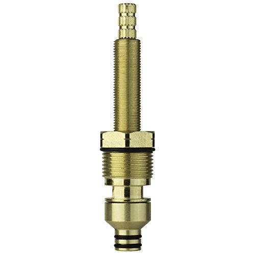 LASCO S-746-2 5651 Harden Brass, Ceramic Roman Tub Valve Cold Stem Assembly, 16 Point, H-Broach