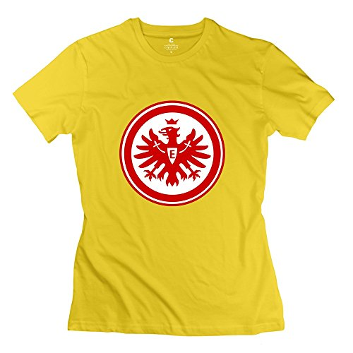 Eintracht Frankfurt Women T-Shirt Size Large Yellow ()