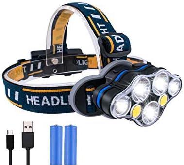 3 Modes Bright 6 LED Head Lamp Light Torch Headlamp Headlight YH