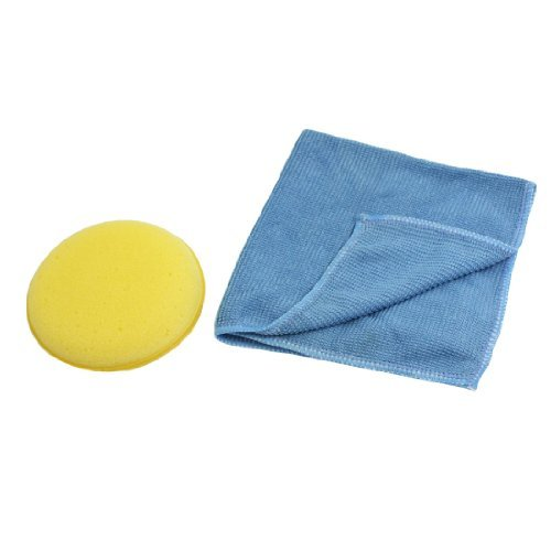 Water & Wood Auto Car Blue Yellow Sponge Pad Window Glass Anti-fog Towel Cloth with Car Cleaning - Mitt Fog