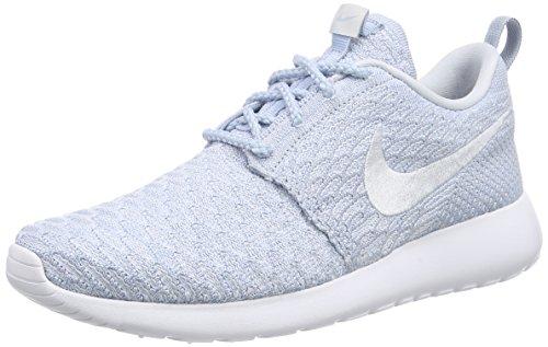 NikeRoshe Flyknit - Zapatillas de Running Mujer Azul - Blau (Lt Armory Blue/Pr Pltnm-White 401)