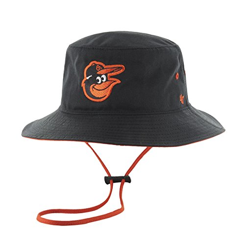 '47 MLB Baltimore Orioles Kirby Bucket Hat, One Size, Black ()