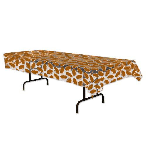 Beistle 57024 1-Pack Football Party Table Cover, 54 by ()