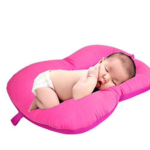 Vinmax Baby Bath Tub Non-Slip Shower Cushions Soft Comfortable for Infant Brackets,Color Pink - Shaking Bath