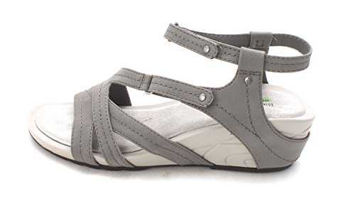 BareTraps Bare Traps Womens Belina Open Toe Casual Ankle Strap, Dark Grey, Size 9.5 (Trap Strap)