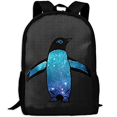 Animal Galaxy Penguin Unique Outdoor Shoulders Bag Fabric Backpack Multipurpose Daypacks For Adult: Toys & Games