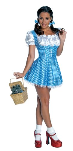 Secret Wishes  Women's Wizard of Oz Sequin Dorothy Costume, Blue/White, Small