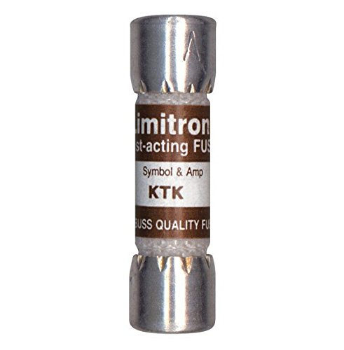 Bussmann KTK-15 KTK015, 15 Amp Limitron Fast Acting Supplementary Fuse Melamine Tube, 600V UL Listed