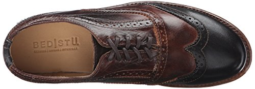 Lita Women's Bed Oxford Shoe Stu Leather Teak Rust Rustic Black w5wqE