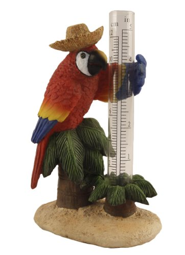 Young 39 S Resin Parrot Rain Gauge 8 Inch Home Garden Decor Gauges