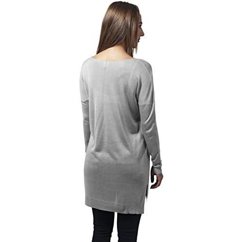 Urban Classics Oversize Pullover in hellgrau weiß Frauen