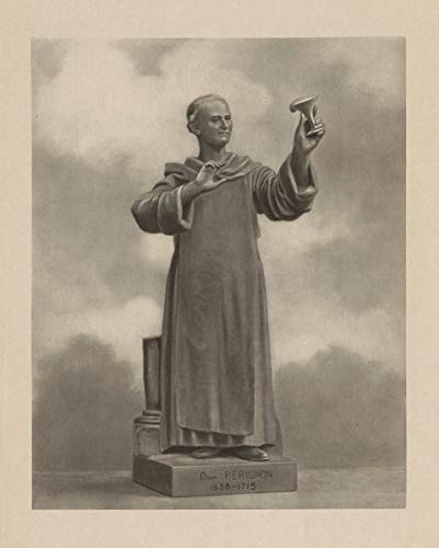 - Dom Perignon 1638-1715, French Benedictine Monk. Developer of Champagne - 1944 - Old Print - Antique Print - Vintage Print - Printed Prints of Marne