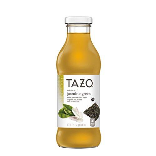 Tazo Jasmine Green Iced Tea, 13.8 Ounce Glass Bottles, 8 Count (Tazo Organic Iced Tea)