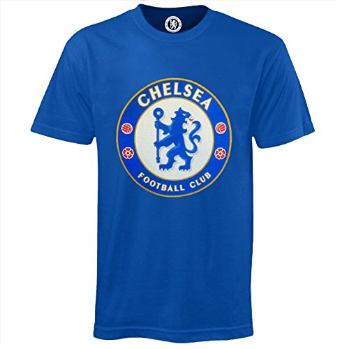 (Chelsea Football Club Official Soccer Gift Kids Crest T-Shirt Royal 8-9)