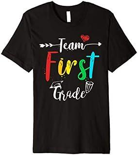 Team 1st grade shirt Teacher Student tee First Grade School Premium T-shirt | Size S - 5XL
