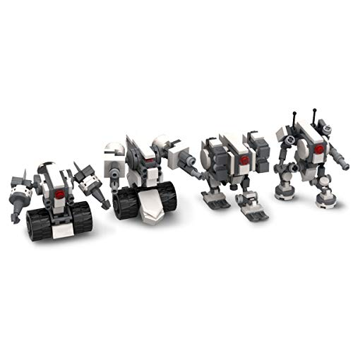 - Mecha Series DIY Building Block ,Seller Unique Design fit for Mobile Frame Zero Game ,Compatible with Lego Little Robot Set (RuinsTeam)