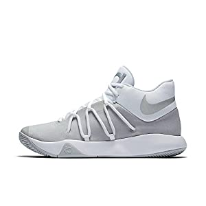 Nike Mens KD Trey 5 V Basketball Shoes White/Chrome-Pure Platinum Size 10