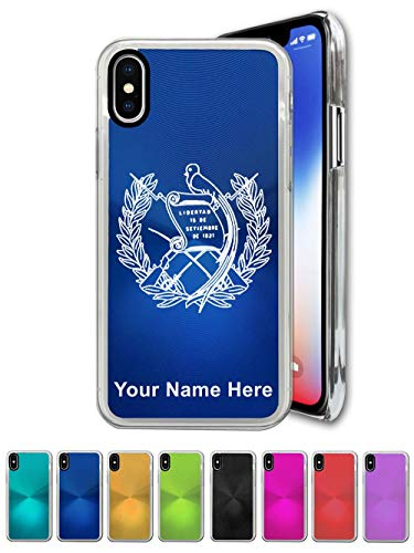 Case Compatible with iPhone XR, Flag of Guatemala, Personalized Engraving Included