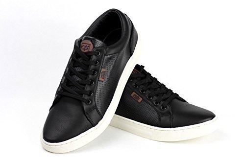Herren Freizeit Komfort Schnürer Elegante flache fahren Schuhe Italian Mode Schwarz